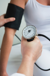 Blood pressure reading as part of your health assessment